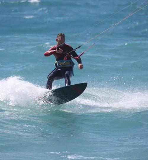 Kite surf con surfino senza strapper