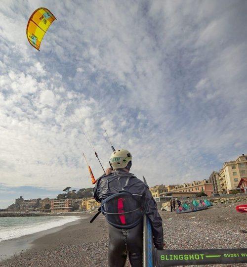 Kite surf hydrofoil a Sturla Genova