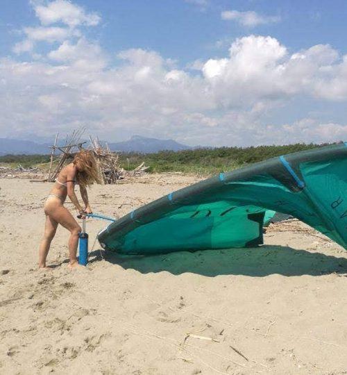 Gonfiare la vela del kite
