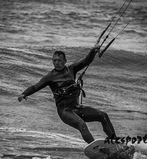 Kite surf e onda