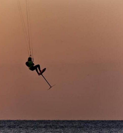 Kite surf con hydrofoil